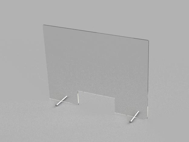 Hygieneschutz - 100 x 70 cm (4 mm)