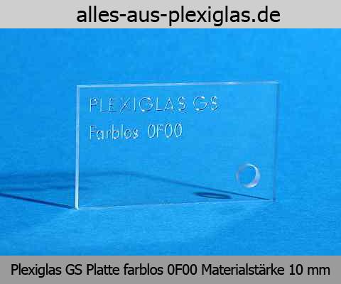 PLEXIGLAS<sup>®</sup> GS Platte / farblos / 10 mm