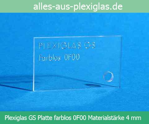PLEXIGLAS<sup>®</sup> GS Platte / farblos / 4 mm