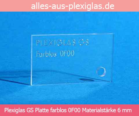 PLEXIGLAS<sup>®</sup> GS Platte / farblos / 6 mm