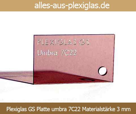 PLEXIGLAS<sup>®</sup> GS Platte / umbra / 7C22 / 3 mm