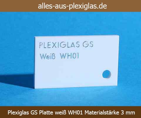 PLEXIGLAS<sup>®</sup> GS Platte / weiß / WH01 / 3 mm