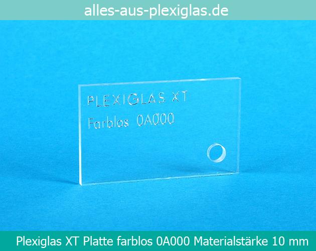 PLEXIGLAS<sup>®</sup> XT Platte / farblos / 10 mm