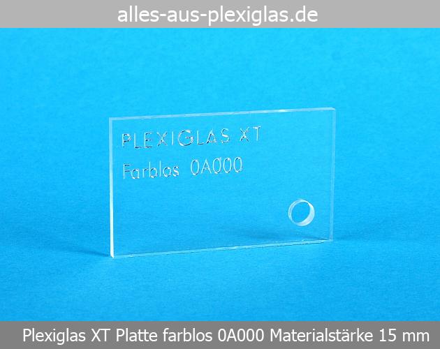 PLEXIGLAS<sup>®</sup> XT Platte / farblos / 15 mm