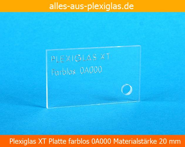 PLEXIGLAS<sup>®</sup> XT Platte / farblos / 20 mm