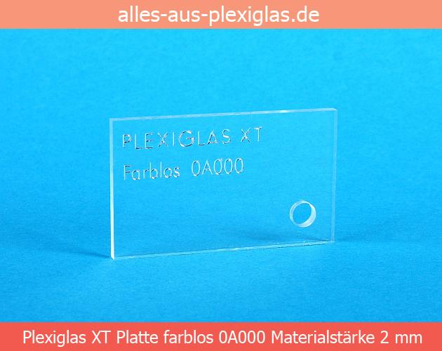 PLEXIGLAS<sup>®</sup> XT Platte / farblos / 2 mm