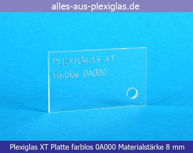 PLEXIGLAS<sup>®</sup> XT Platte / farblos / 8 mm
