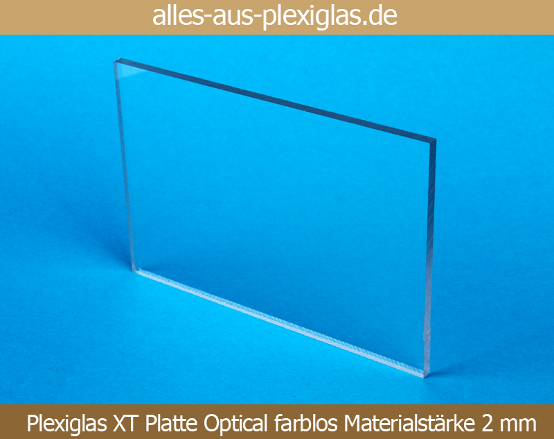 PLEXIGLAS<sup>®</sup> XT Platte Optical / farblos / 2 mm