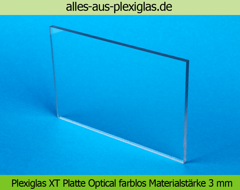 PLEXIGLAS<sup>®</sup> XT Platte Optical / farblos / 3 mm