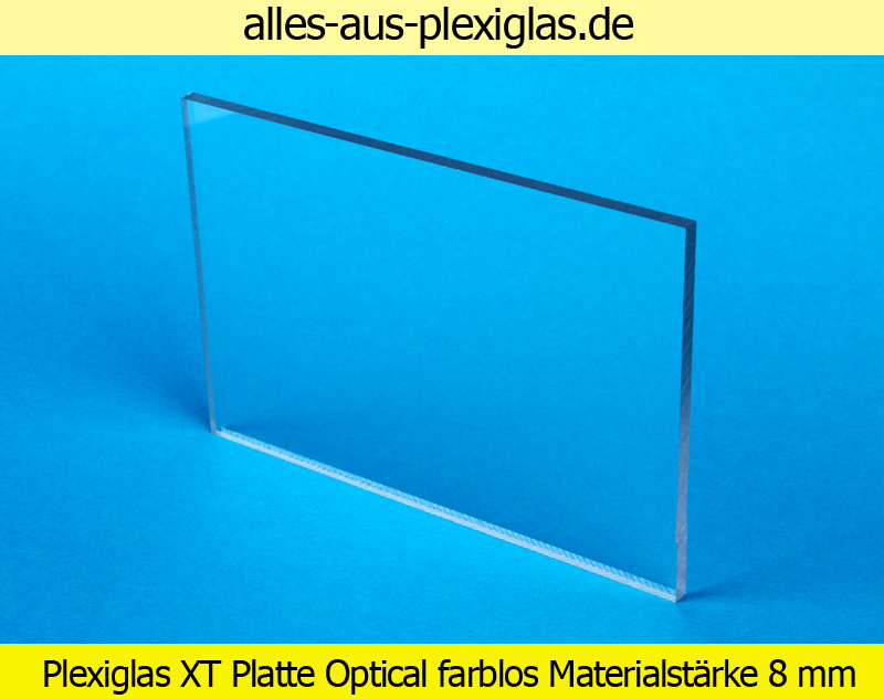 PLEXIGLAS<sup>®</sup> XT Platte Optical / farblos / 8 mm
