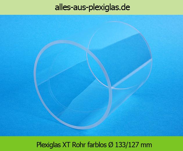 PLEXIGLAS<sup>®</sup> XT Rohr / farblos / Ø 133/127 mm