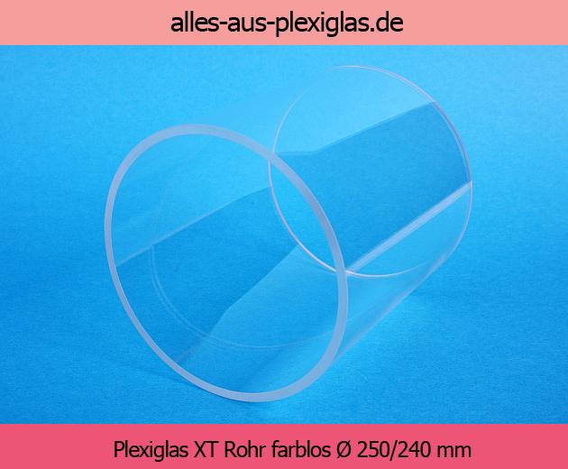 PLEXIGLAS<sup>®</sup> XT Rohr / farblos / Ø 250/240 mm
