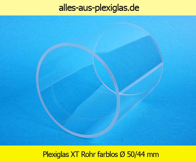PLEXIGLAS<sup>®</sup> XT Rohr / farblos / Ø 50/44 mm