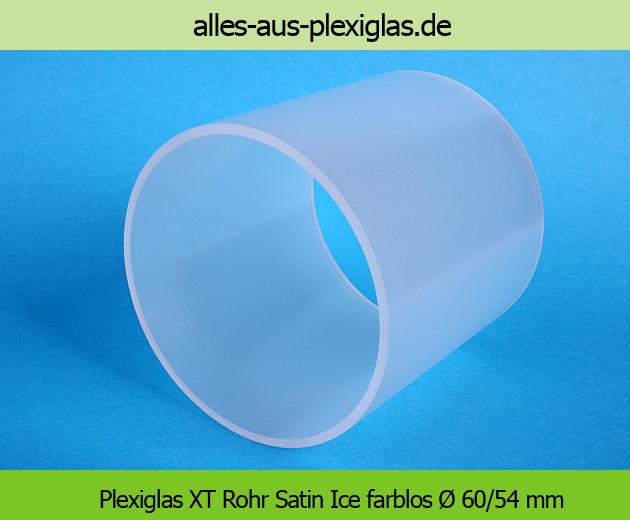 PLEXIGLAS<sup>®</sup> XT Rohr / Satin Ice farblos / Ø 60/54 mm