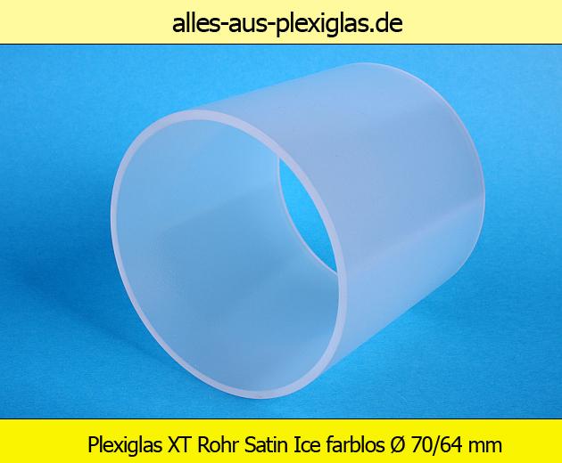 Acrylglas / PLEXIGLAS® XT Rohre Satinice farblos