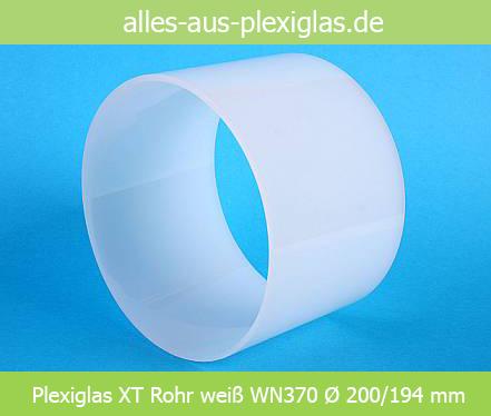 PLEXIGLAS<sup>®</sup> XT Rohr / weiß / WN370 / Ø 200/194 mm