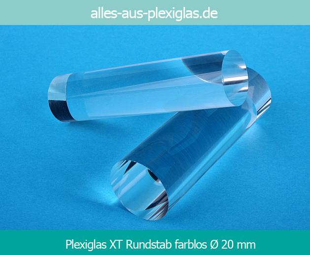 PLEXIGLAS<sup>®</sup> XT Rundstab / farblos / Ø 20 mm
